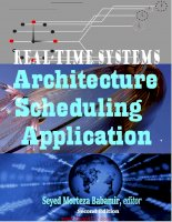 Realtime systems archtecture scheduling application