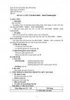Giáo án hóa học 11 Bài 46  Luyện tập Anđexit Xeton Axit cacboxylic