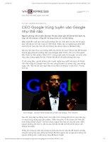 ceo google trung tuyen vao google nhu the nao