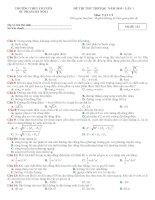 đề thi thử THPTQG 2019   vật lý   THPT chuyên sư phạm 1   lần 1   có lời giải