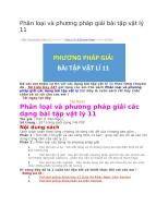 Phân loại và phương pháp giải bài tập vật lý 11