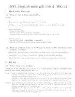 Bài tập lớn môn giải tích 2 vẽ hình khối matlab Nguyễn Thị Xuân Anh