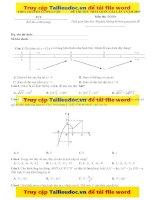Đề thi thử 2019 môn toán THPT chuyên lương văn tụy   ninh bình – lần 2   file word có ma trận lời giải chi tiết
