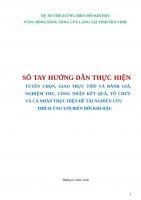 DỰ ÁN THÍCH ỨNG BIẾN ĐỔI KHÍ HẬU VÙNG ĐỒNG BẰNG SÔNG CỬU LONG TẠI TỈNH TRÀ VINH