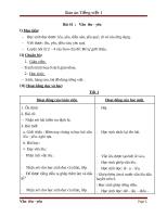 Giáo án Tiếng Việt 1 bài 44: Vần ON AN