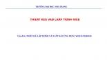 Chủ đề 6. THIẾT KẾ, LẬP TRÌNH VÀ XUẤT BẢN ỨNG DỤNG WEB DATABASE