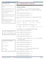 Chuyên đề trắc nghiệm hàm số (2019)