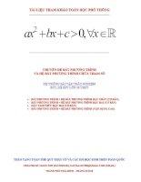 Hệ thống bài tập trắc nghiệm bất phương trình – hệ bất phương trình chứa tham số