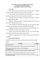 TÀI LIỆU VÀ CÂU HỎI KIỂM TRA, SÁT HẠCH KIẾN THỨC CHUYÊN NGÀNH Tuyển dụng vị trí: Bác sĩ Y học cổ truyền