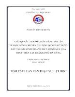 Giải quyết tranh chấp bằng tòa án về hợp đồng chuyển nhượng quyền sử dụng đất trong kinh doanh bất động sản qua thực tiễn tại thành phố đà nẵng (tt)
