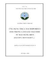 Ứng dụng nhựa macroporous d101 trong làm giàu bacosid từ rau đắng biển (bacopa monnieri l )
