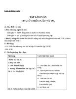 Giáo án Tiếng Việt 2 tuần 1 bài: Tập làm văn  Tự giới thiệu. Câu và bài