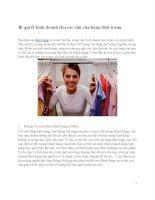 Bí quyết kinh doanh cho các chủ cửa hàng thời trang