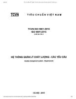 TIÊU CHUẨN VIỆT NAM TCVN ISO 9001 2015 ISO 9001 2015 và đánh giá tình hình ứng dụng bộ tiêu chuẩn này ở Việt Nam