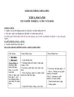 Giáo án Tiếng Việt 2 tuần 1 bài: Tập đọc  Tự thuật
