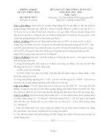 Đề HSG môn Vật lý  lớp 8  cấp huyện  (có đáp án)