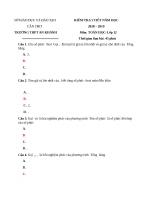 2C đề KT 1 TIẾT số PHỨC 12