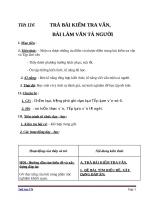 Giáo án Ngữ văn 6 bài 27: Trả bài tập làm văn số 6