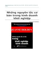 Nguyen tac khoi nghiep PDF