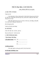 Giáo án Ngữ văn 6 bài 27: Lao xao