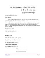 Giáo án Ngữ văn 6 bài 27: Lòng yêu nước
