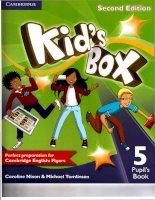 Kids box 5 second edition pupils book