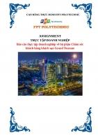 Báo cáo thực tập doanh nghiệp về bộ phận Chăm sóc khách hàng khách sạn Grand Tourane