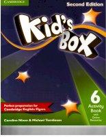 Kids box 6 second edition activity book