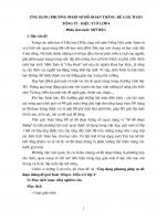 skkn ỨNG DỤNG PHƯƠNG PHÁP sơ đồ đoạn THẲNG để GIẢI TOÁN TỔNG tỉ   HIỆU tỉ ở lớp 4