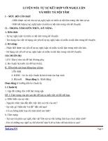 Giáo án Ngữ văn 9 bài 13: Luyện nói: tự sự kết hợp với nghị luận và miêu tả nội tâm