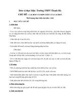 Giáo án dạy học theo hướng phát triển năng lực: Chủ đề Cacbon và Hợp chất của cacbon