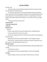 Giáo án dạy học theo hướng phát triển năng lực: Chủ đề Anken