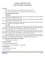 Giáo án Ngữ văn 9 bài 6: Cảnh ngày xuân (trích Truyện Kiều)