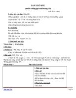 Giáo án Ngữ văn 9 bài 31: Con chó Bấc (trích Tiếng gọi nơi hoang dã)