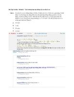 Bài tập cơ bản   b011101 – các trường hợp dao động của con lắc lò xo