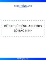 De thi thu tieng anh 2019 BN
