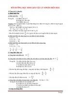 Chuyên đề bồi dưỡng học sinh giỏi vật lý 9 phần điện học