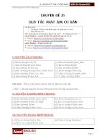 NGÀY 30   QUY tắc PHÁT âm cơ bản