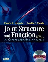 Joint structure and function, a comprehensive analysis 5th ed    p  levangie, c  norkin (f a  davis, 2011)