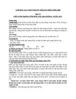 Giáo án Lịch sử 9 bài 31: Việt Nam trong năm đầu sau đại thắng Xuân 1975
