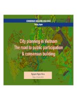 City planning in vietnam   the road to participatory planning and building consensus