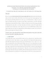 ĐÁNH GIÁ PHƯƠNG PHÁP TIẾP cận GIẢM NGẬP PHÂN tán tại KHU vực TRŨNG THẤP đã đô THỊ hóa ở NGOẠI VI THÀNH PHỐ hồ CHÍ MINH