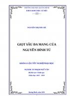 Khóa luận tốt nghiệp Giọt sầu đa mang của Nguyễn Đình Tú