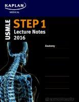Kaplan USMLE step 1 lecture notes 2016  anatomy 1