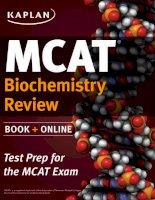 Kaplan MCAT review 2015 biochemistry review