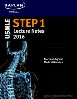 Kaplan USMLE step 1 lecture notes 2016 biochemistry  medical genetics