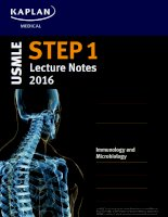 Kaplan USMLE step 1 lecture notes 2016 immunology  microbiology