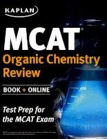 Kaplan MCAT review 2015 organic chemistry review