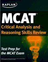 Kaplan MCAT review 2015 critical analysis and reasoning skills review
