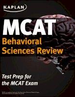 Kaplan MCAT review 2015 behavioral sciences review